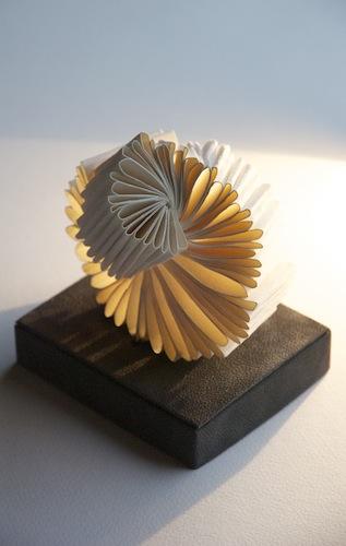 Whorl - 2013 Louisa Boyd Magnani handmade white wove paper 9cm x 11cm x 11cm Book sculpture