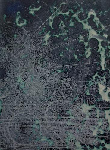 Cartology - 2010 etching Louisa Boyd