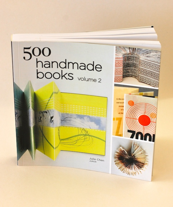 Flock featured on the front cover of 500 Handmade Books - 2013