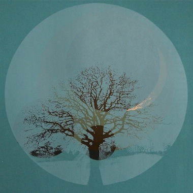 Lunar Mist screenprint Louisa Boyd
